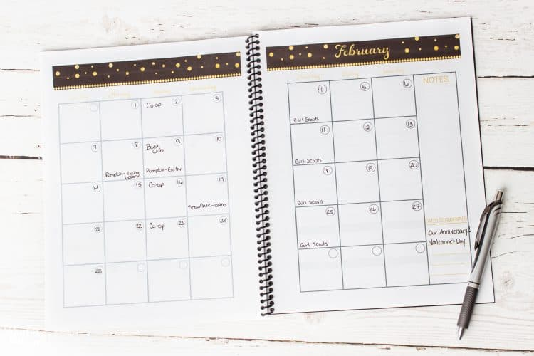 Real Organized Calendarand a Printable Calendar - The Real Thing