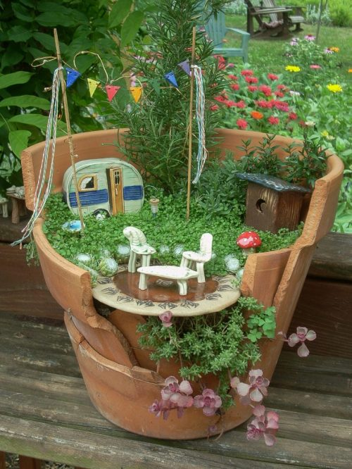 Medium Of Fairy Gardens In Pots