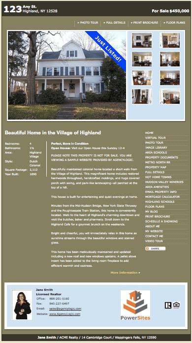 sample real estate websites