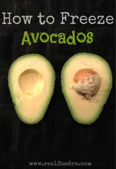 How To Freeze Avocados | Real Food RN