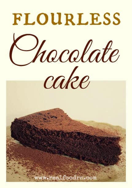 flourless chocolate cake pin