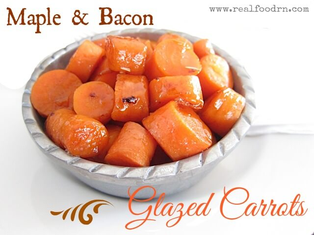 glazed carrots Maple and Bacon Glazed Carrots
