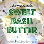 sweet basil butter 150x150 Creamy Cauliflower Fauxtatoes