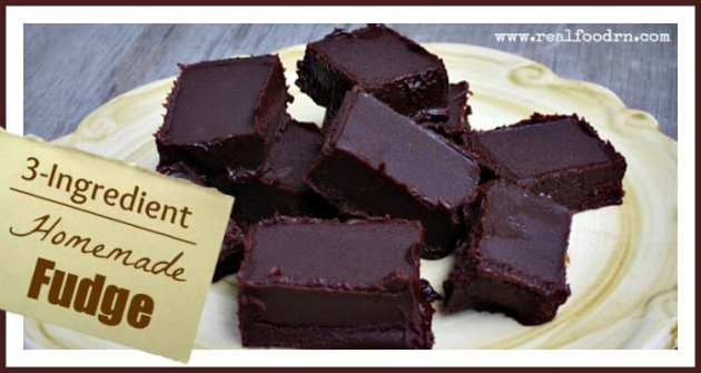 3-Ingredient Homemade Fudge | Real Food RN