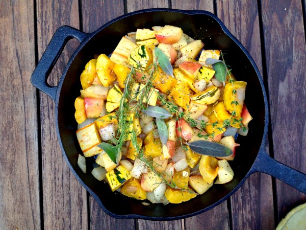 "Roasted Delicata Squash, Apple & Fig ""Stuffing"" ~ Real Food with ..."