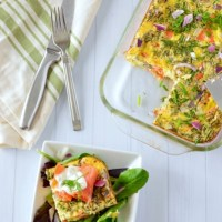 Smoked Salmon Frittata with Lemon-Caper Aioli