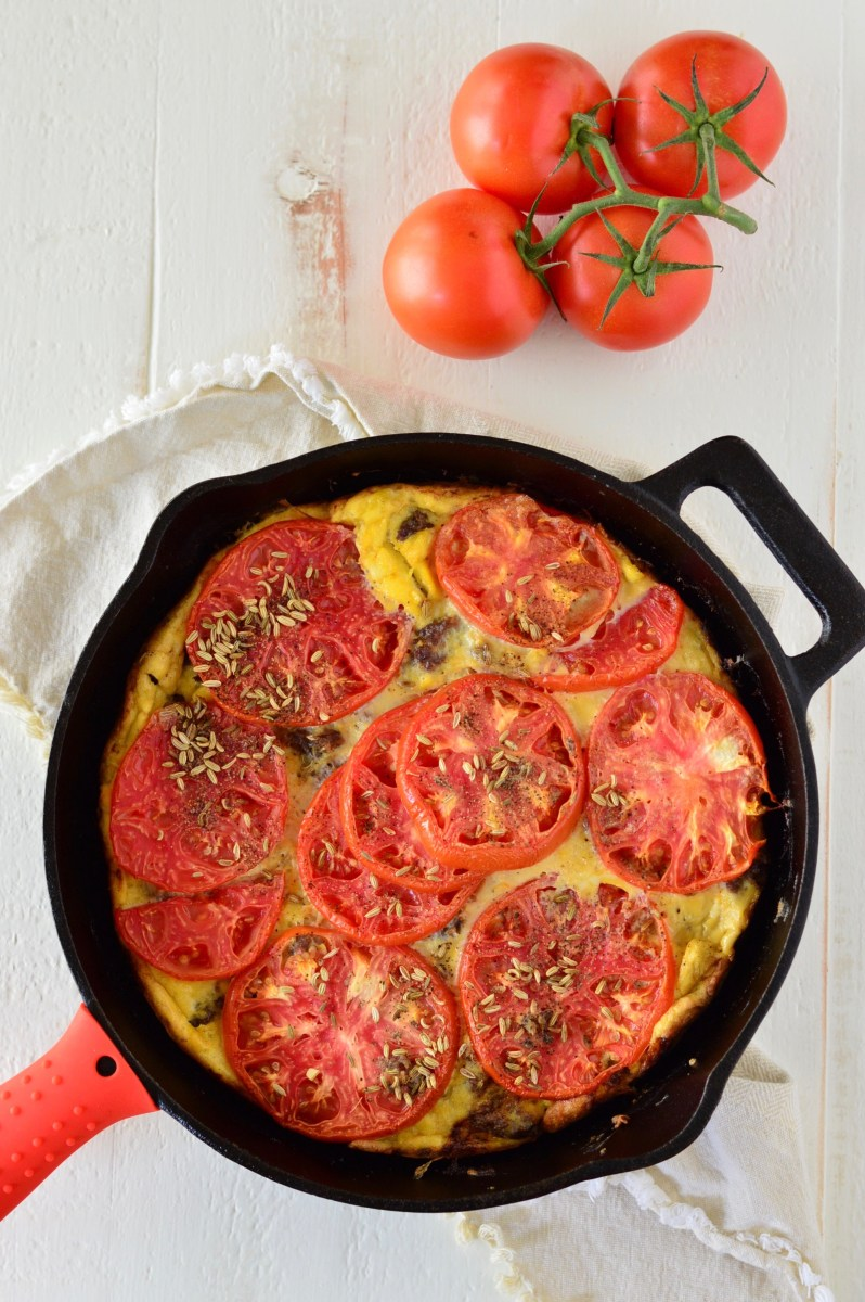 Tomato & Sausage Frittata: Cassy Joy's Fed & Fit Cookbook Review