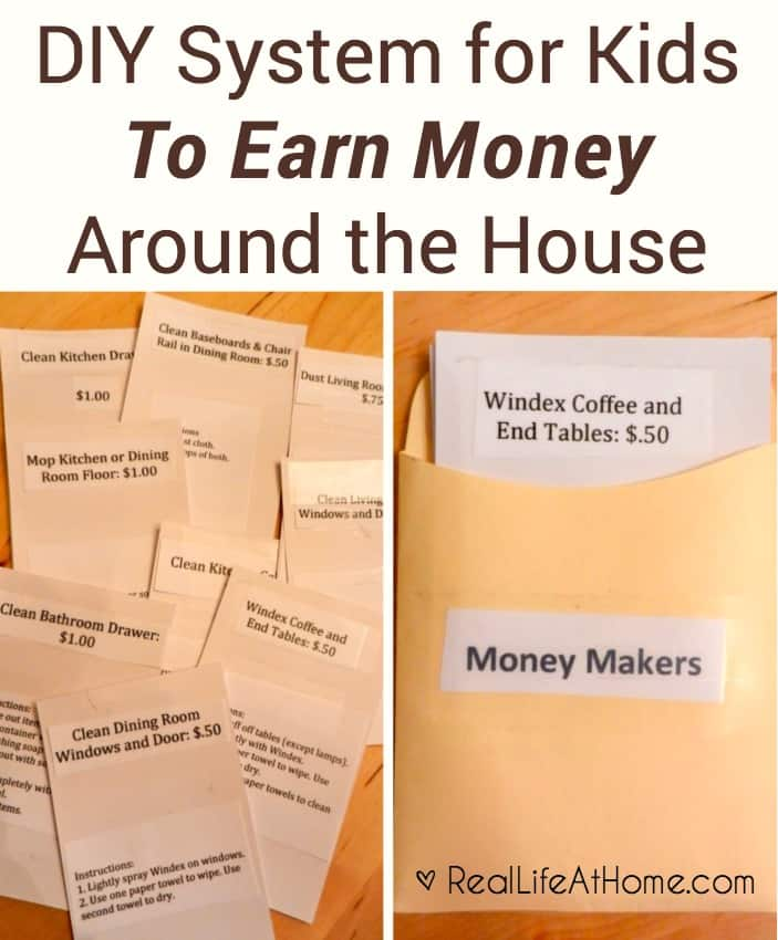 Ways for Kids To Earn Money Around the House