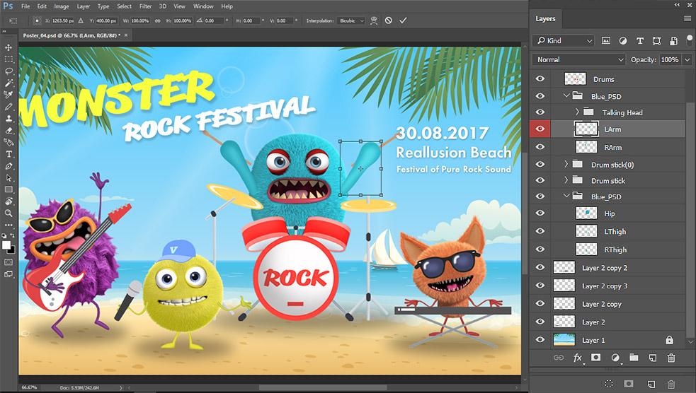 Photoshop Animation and Photo Animation - CrazyTalk Animator 3