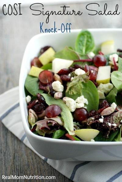 Cosi Signature Salad Knock-Off - Real Mom Nutrition