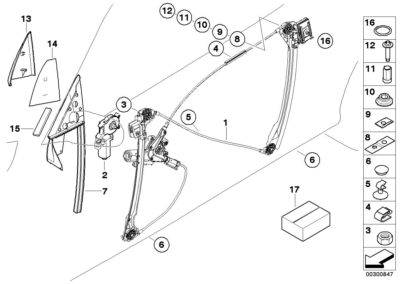 bmw e46 door diagram