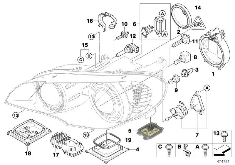 Bmw Headlight Diagram Wiring Schematic Diagram