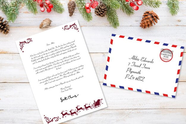 Free Printable Letter  Envelope From Santa