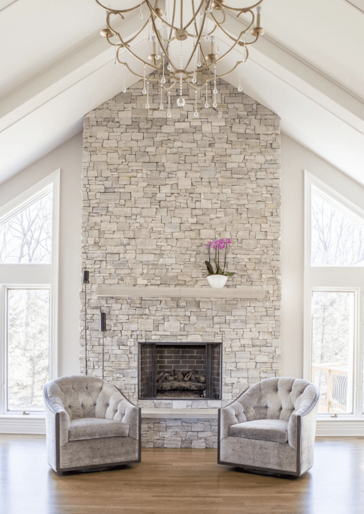 3d Wallpaper Or Wall Panel Or Wall Panels Stacked Stone 11 Stone Veneer Fireplace Surround Design Trends Amp Where
