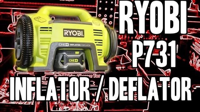 Ryobi P731 Cordless Inflator Deflator 18v One Real