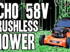 echo 58v brushless mower