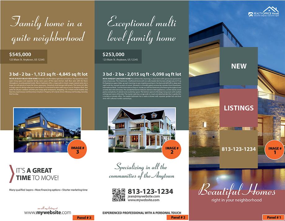 Real Estate Brochure Template Realtor Brochure Template