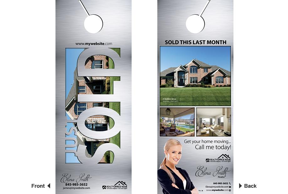 Real Estate Door Hanger Template Realtor Estate Door Hanger Template