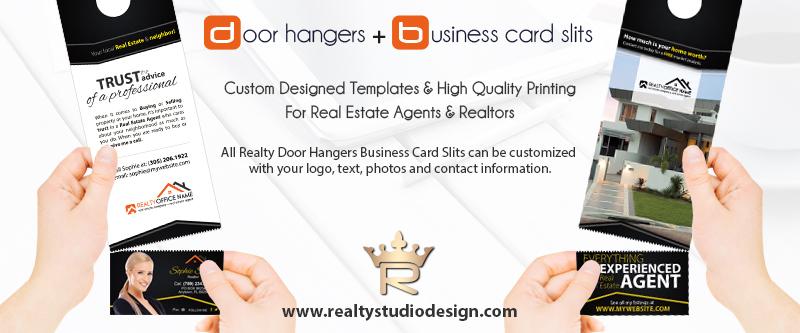 Real Estate Door hangers Business Card Slits Door hangers Card Slits