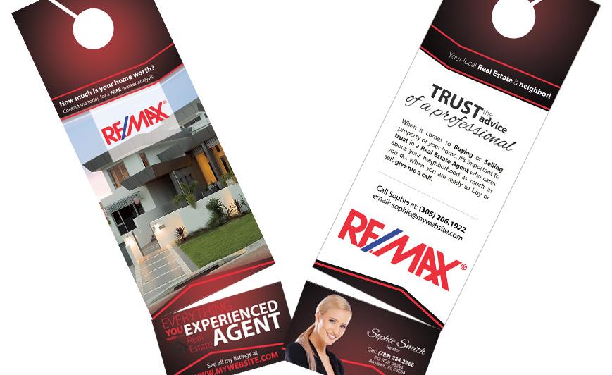 Remax Door Hangers Business Card Slits Door Hangers Business Card