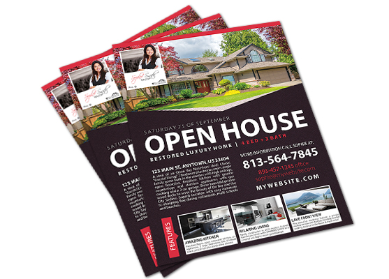 Open House Flyers Agent Open House Flyer, Realtor Open House Flyer - open house flyer