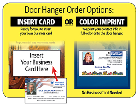 Real Estate Door Hangers with Business Card ReaMark Marketing Tools