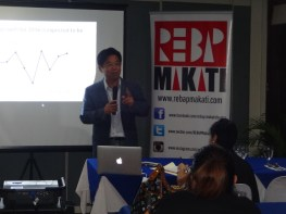 REBAP Makati Members Meeting RMMM last August 31, 2016 at Elks Club Corinthian Plaza Makati City. Learning Sessions provided by Hoppler CEO Ramon Ballesca and Filinvest SVP Steve Chen.