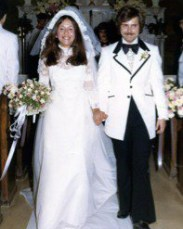 My parents in 1974. I only wish brides and grooms looked this cool now.
