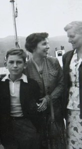 George Harrison with Louise and their mother Louise on a vacation to the Isle of Skye