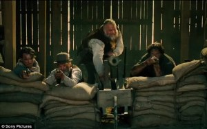 Vincent D'Onofrio as Jack Horne with some locals take aim with a make-shift cannon.