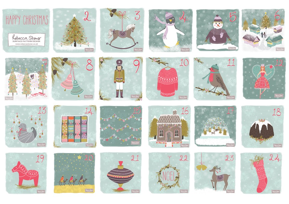 Christmas Advent 2014  by Rebecca Stoner