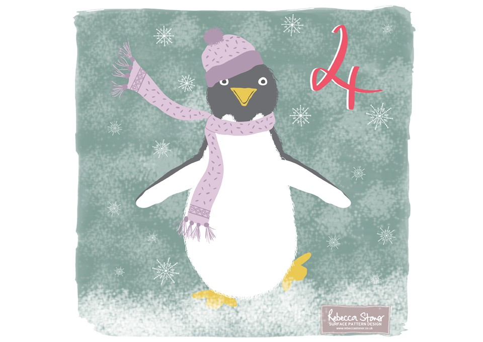 Christmas Advent 2014_Penguin  by Rebecca Stoner