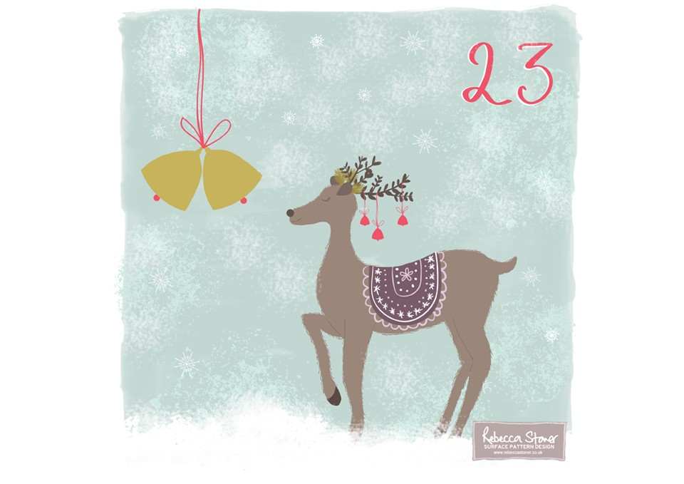 Christmas Advent 2014_Reindeer  by Rebecca Stoner