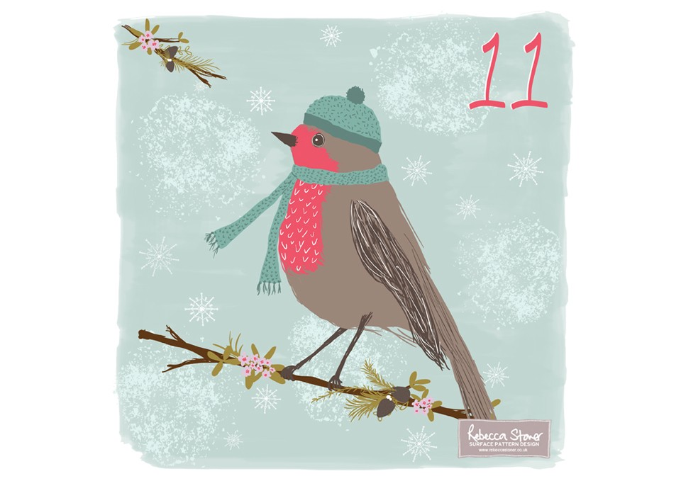 Christmas Advent 2014_Robin  by Rebecca Stoner