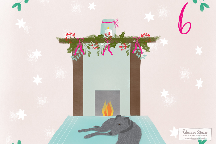 Illustrated Advent 2015 Day 6 by Rebecca Stoner