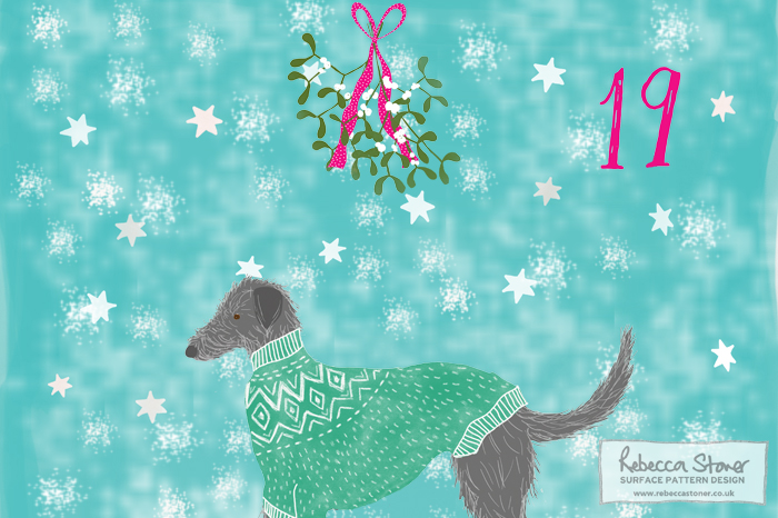 Illustrated Advent 2015 day 19 by Rebecca Stoner