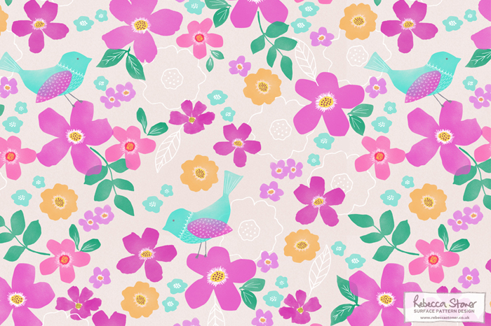 Floral Bird Collection by Rebecca Stoner