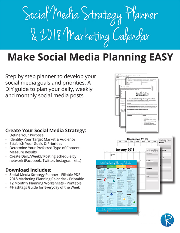 2018 Social Media Strategy Planner - Rebecca VanDenBerg Web Services