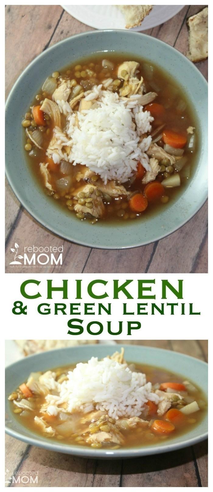 Chicken & Green Lentil Soup