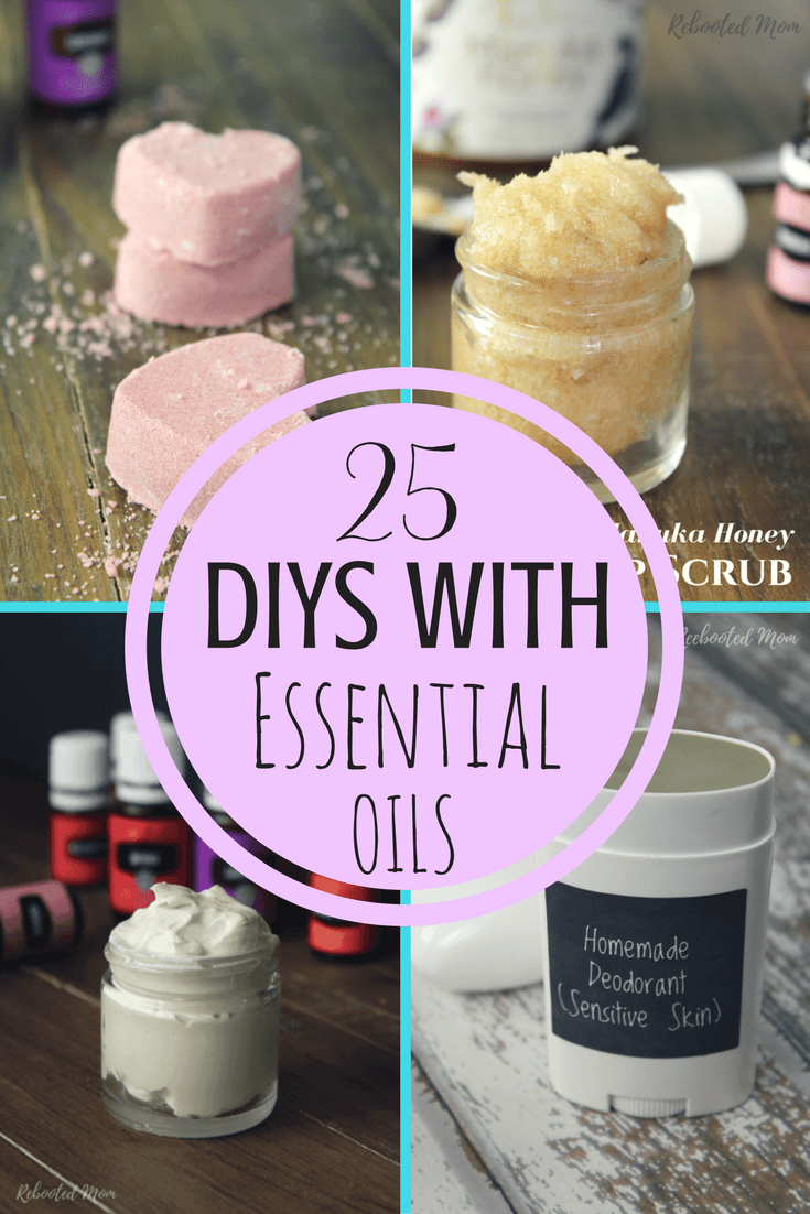 Looking to ditch the toxic personal care products in your home? Here are 25 DIYs with Essential Oils that you can whip up - everything from deodorant to shower jellies & more.