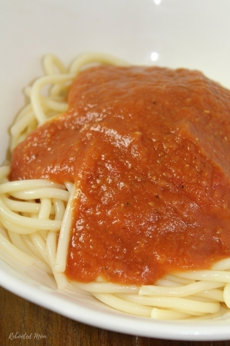 This marinara sauce combines basic tomatoes with 2 secret ingredients to make just over 8 cups ~ all in under 30 minutes in your Instant Pot!