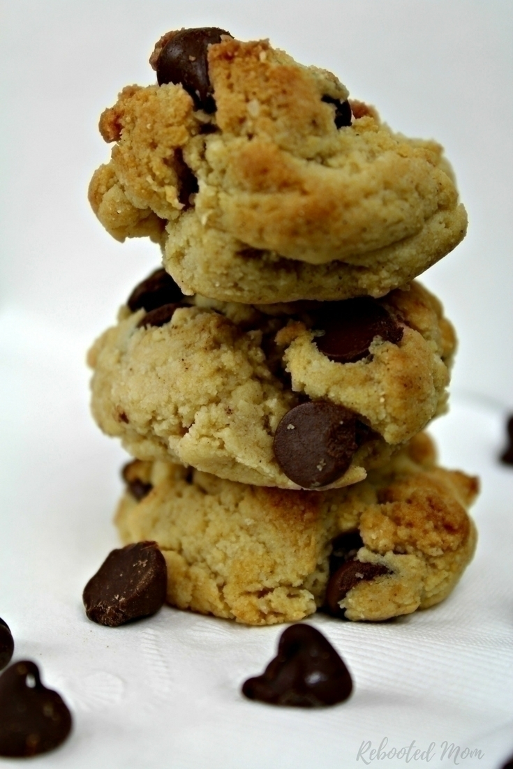 Enjoy a treat that won't sabotage your diet and health ~ these Gluten-Free chocolate chip cookies are soft and decadent - and you will never know they are made with almond flour!