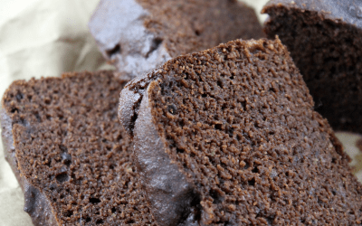 Moist and delicious paleo chocolate zucchini bread with simple ingredients and sweetened with maple syrup.