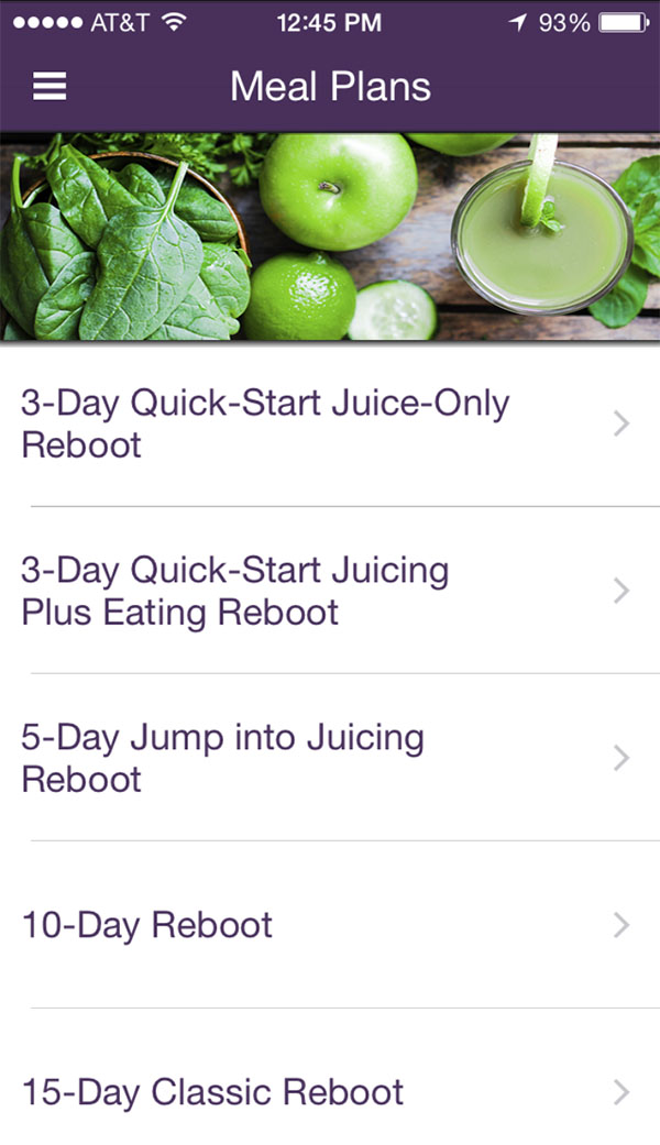 Reboot App Meal Plans Reboot With Joe - meal plans