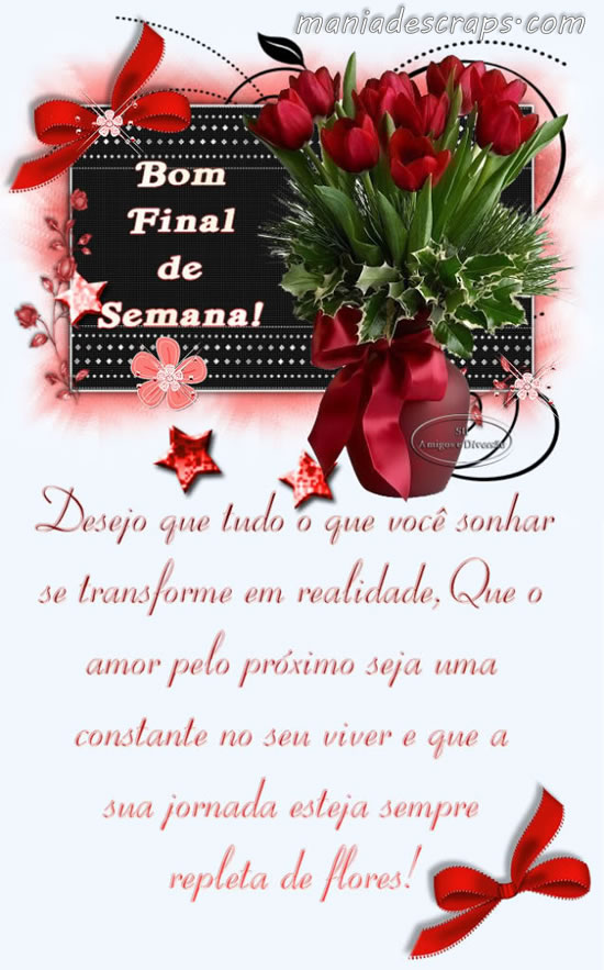 Recado Facebook Flores Bom Final de Semana