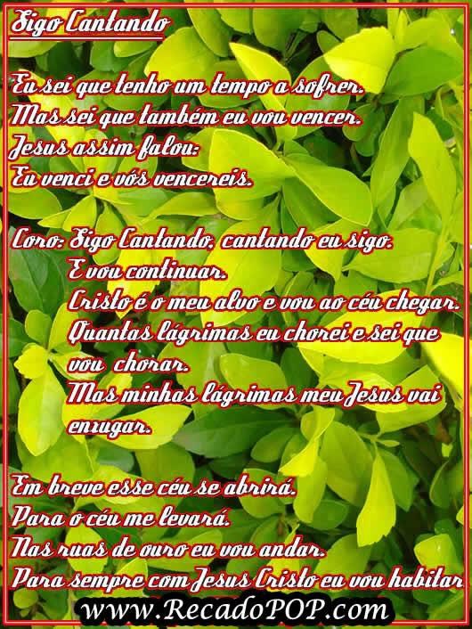 Recado Facebook Sigo Cantando
