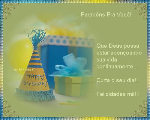 Recado Facebook Parabéns pra você, felicidades!