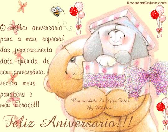 Recado Facebook Feliz aniversário, pessoa especial!