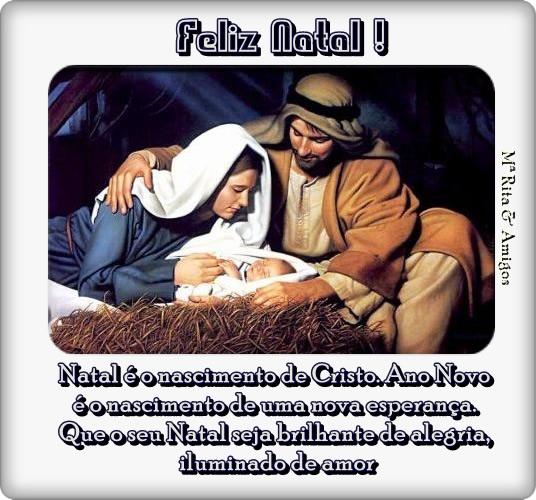 Recado Facebook Natal é o nascimento de Cristo