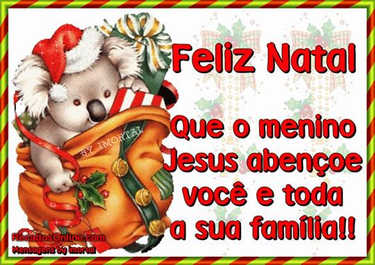 Recado Facebook Que Jesus abençoe vc e sua família no natal